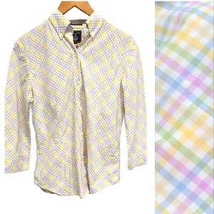 Faconnable Button Down 3/4 Sleeve Shirt size Small